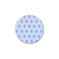 Flower Floral Different Colours Blue Purple Golf Ball Marker by Alisyart