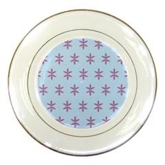 Flower Floral Different Colours Blue Purple Porcelain Plates by Alisyart