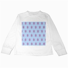 Flower Floral Different Colours Blue Purple Kids Long Sleeve T-Shirts by Alisyart