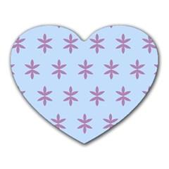 Flower Floral Different Colours Blue Purple Heart Mousepads by Alisyart