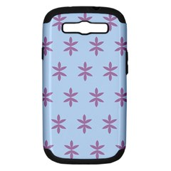 Flower Floral Different Colours Blue Purple Samsung Galaxy S Iii Hardshell Case (pc+silicone) by Alisyart
