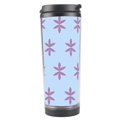 Flower Floral Different Colours Blue Purple Travel Tumbler by Alisyart