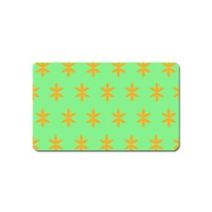Flower Floral Different Colours Green Orange Magnet (name Card) by Alisyart