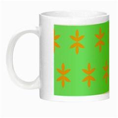Flower Floral Different Colours Green Orange Night Luminous Mugs by Alisyart