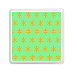 Flower Floral Different Colours Green Orange Memory Card Reader (square)  by Alisyart