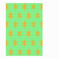 Flower Floral Different Colours Green Orange Small Garden Flag (two Sides) by Alisyart