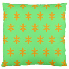 Flower Floral Different Colours Green Orange Large Cushion Case (one Side) by Alisyart