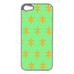 Flower Floral Different Colours Green Orange Apple Iphone 5 Case (silver) by Alisyart