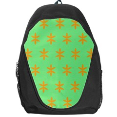 Flower Floral Different Colours Green Orange Backpack Bag by Alisyart