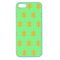 Flower Floral Different Colours Green Orange Apple Seamless Iphone 5 Case (color) by Alisyart