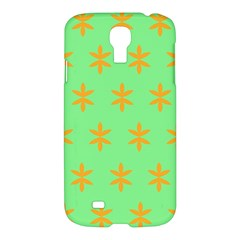 Flower Floral Different Colours Green Orange Samsung Galaxy S4 I9500/i9505 Hardshell Case