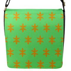 Flower Floral Different Colours Green Orange Flap Messenger Bag (s) by Alisyart