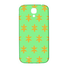 Flower Floral Different Colours Green Orange Samsung Galaxy S4 I9500/i9505  Hardshell Back Case by Alisyart