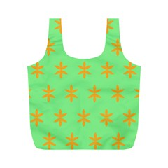 Flower Floral Different Colours Green Orange Full Print Recycle Bags (m)  by Alisyart