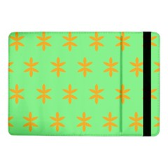 Flower Floral Different Colours Green Orange Samsung Galaxy Tab Pro 10 1  Flip Case by Alisyart