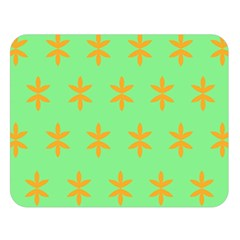 Flower Floral Different Colours Green Orange Double Sided Flano Blanket (large)  by Alisyart