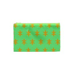 Flower Floral Different Colours Green Orange Cosmetic Bag (xs) by Alisyart