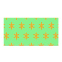 Flower Floral Different Colours Green Orange Satin Wrap by Alisyart