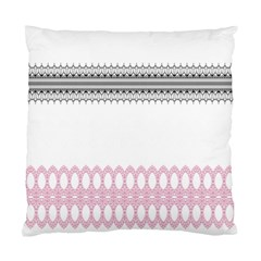 Crown King Quinn Chevron Wave Pink Black Standard Cushion Case (one Side) by Alisyart