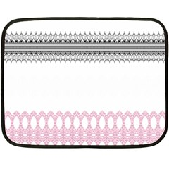 Crown King Quinn Chevron Wave Pink Black Fleece Blanket (mini) by Alisyart