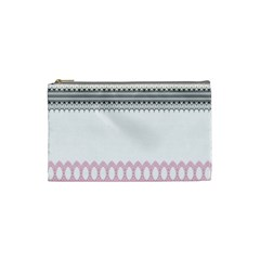 Crown King Quinn Chevron Wave Pink Black Cosmetic Bag (small)  by Alisyart