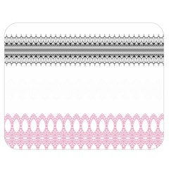 Crown King Quinn Chevron Wave Pink Black Double Sided Flano Blanket (medium)  by Alisyart