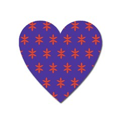 Flower Floral Different Colours Purple Orange Heart Magnet by Alisyart