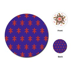 Flower Floral Different Colours Purple Orange Playing Cards (round)  by Alisyart