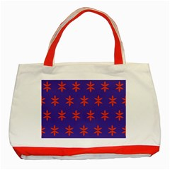 Flower Floral Different Colours Purple Orange Classic Tote Bag (red) by Alisyart