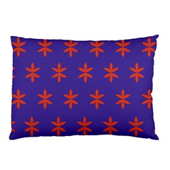 Flower Floral Different Colours Purple Orange Pillow Case by Alisyart