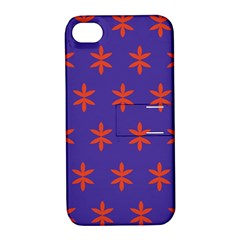 Flower Floral Different Colours Purple Orange Apple Iphone 4/4s Hardshell Case With Stand by Alisyart