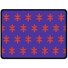 Flower Floral Different Colours Purple Orange Double Sided Fleece Blanket (large)  by Alisyart