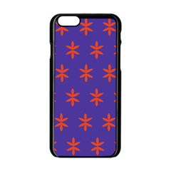 Flower Floral Different Colours Purple Orange Apple Iphone 6/6s Black Enamel Case by Alisyart