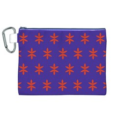 Flower Floral Different Colours Purple Orange Canvas Cosmetic Bag (xl) by Alisyart