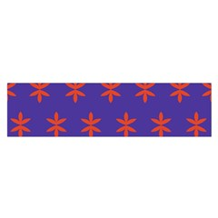 Flower Floral Different Colours Purple Orange Satin Scarf (oblong) by Alisyart