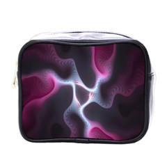 Colorful Fractal Background Mini Toiletries Bags by Simbadda