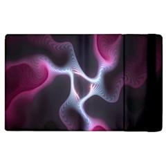 Colorful Fractal Background Apple Ipad 3/4 Flip Case by Simbadda