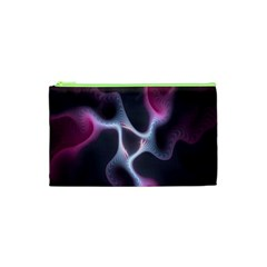 Colorful Fractal Background Cosmetic Bag (xs) by Simbadda