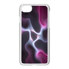 Colorful Fractal Background Apple Iphone 7 Seamless Case (white) by Simbadda