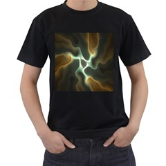Colorful Fractal Background Men s T Shirt (black) by Simbadda