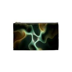 Colorful Fractal Background Cosmetic Bag (small)  by Simbadda