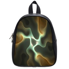 Colorful Fractal Background School Bags (small)  by Simbadda
