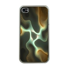 Colorful Fractal Background Apple Iphone 4 Case (clear) by Simbadda