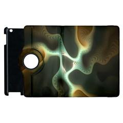 Colorful Fractal Background Apple Ipad 2 Flip 360 Case by Simbadda