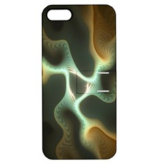 Colorful Fractal Background Apple Iphone 5 Hardshell Case With Stand by Simbadda