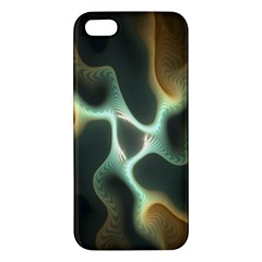 Colorful Fractal Background Apple Iphone 5 Premium Hardshell Case by Simbadda