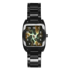 Colorful Fractal Background Stainless Steel Barrel Watch by Simbadda