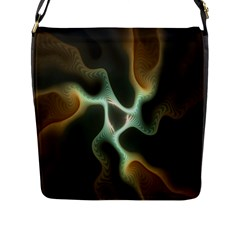 Colorful Fractal Background Flap Messenger Bag (l)  by Simbadda