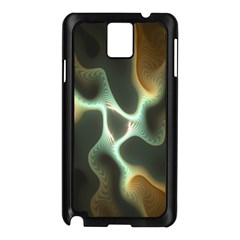 Colorful Fractal Background Samsung Galaxy Note 3 N9005 Case (black) by Simbadda