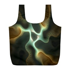 Colorful Fractal Background Full Print Recycle Bags (l)  by Simbadda